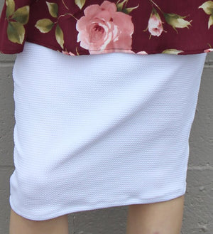 White MD Pencil Skirt