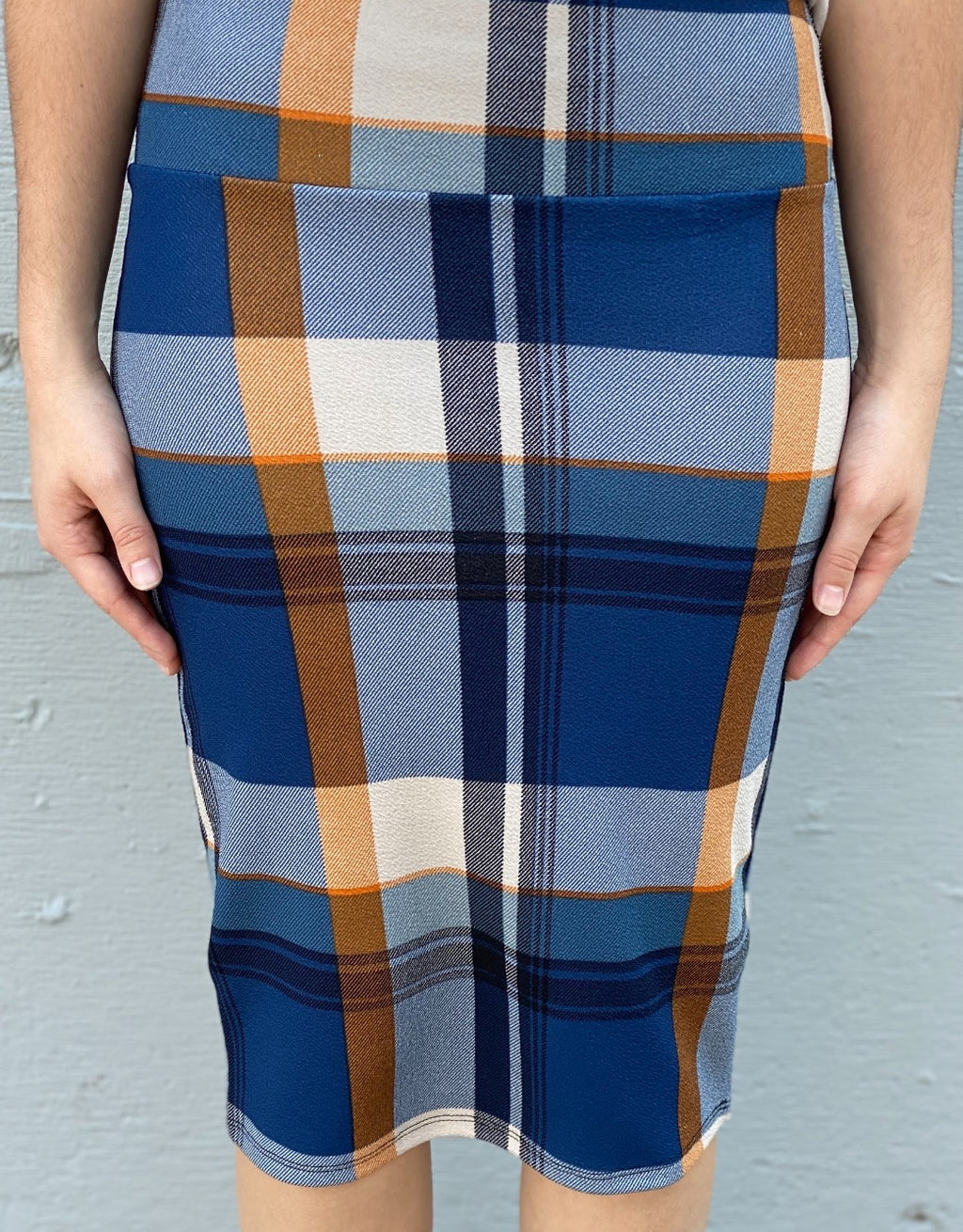 Blue Plaid MD Skirt