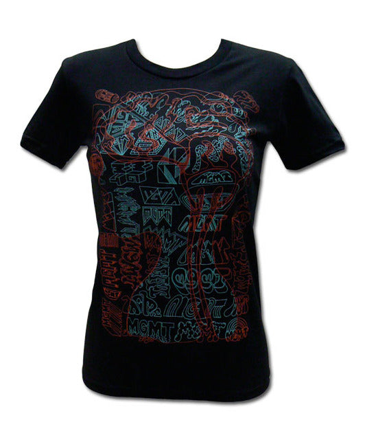 Girl's Brain on Black T-shirt