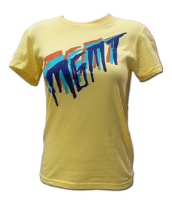 Girl's Tri-Color Scratch on Yellow T-shirt
