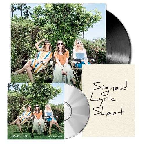 See You Around Album + Signed Lyric Sheet