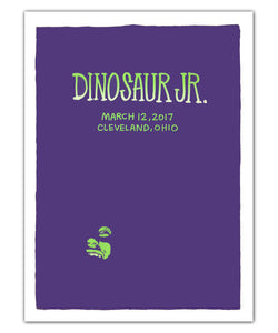Dinosaur Jr. Face [3-12-17 Cleveland, OH] Poster