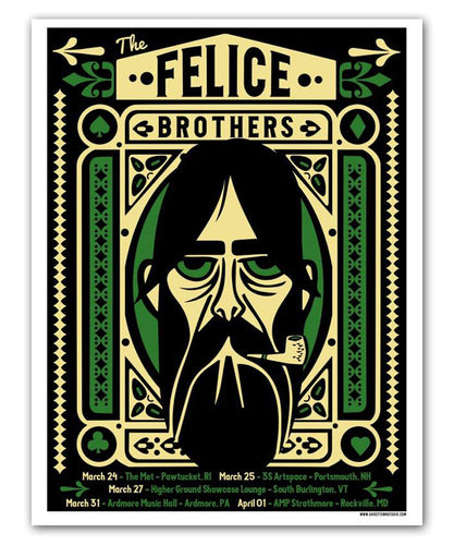 The Felice Brothers March 2016 Tour Poster