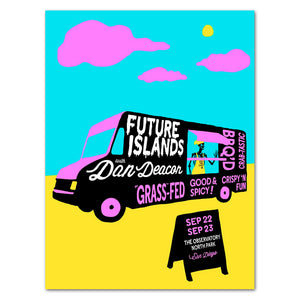 Future Islands San Diego, CA -- The Observatory North Park -- 09.22-23.15 Poster