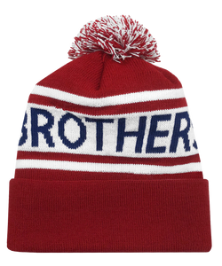 Red-White-Blue Knit Hat