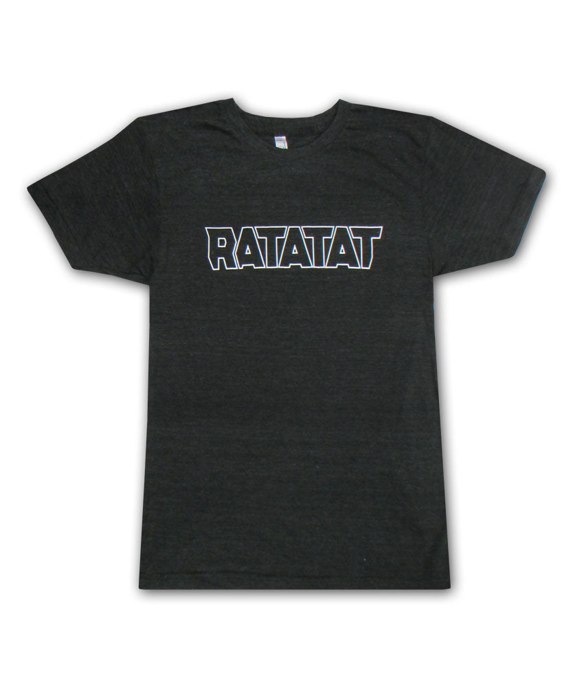 White Outline Logo on Black T-shirt