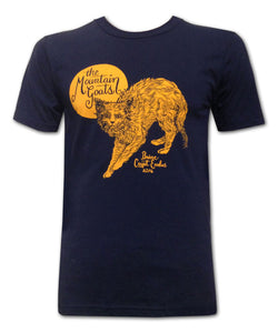 Orange Cat on Navy T-shirt