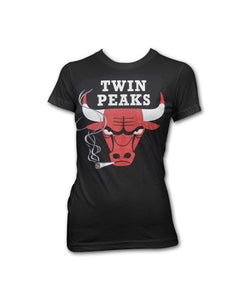 Girl's Black Bulls T-shirt
