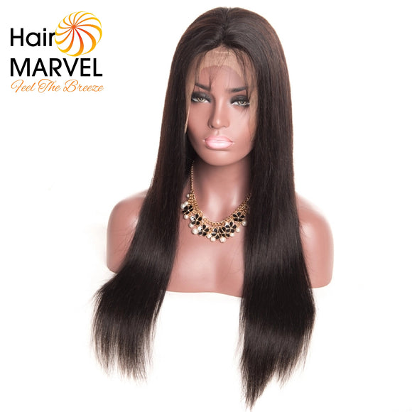 Premium Brazilian Natural Black Straight Human Hair wig