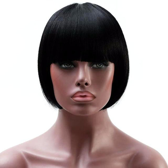 60% OFF Hair Marvel Lil Kim Natural Black Bob Heat Resistant Synthetic Short Wig FREE Shipping