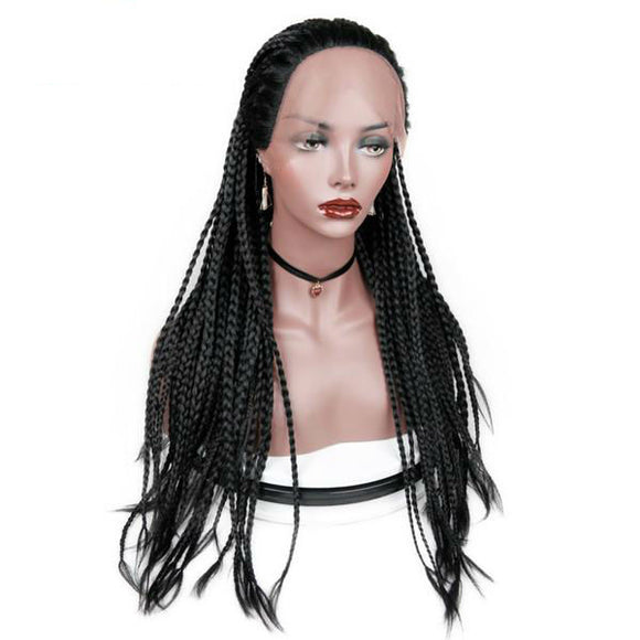 Hair Marvel Lyla Fully Micro Braided Corn Rows Havana Twist Long Lace Front Box Braid Wig