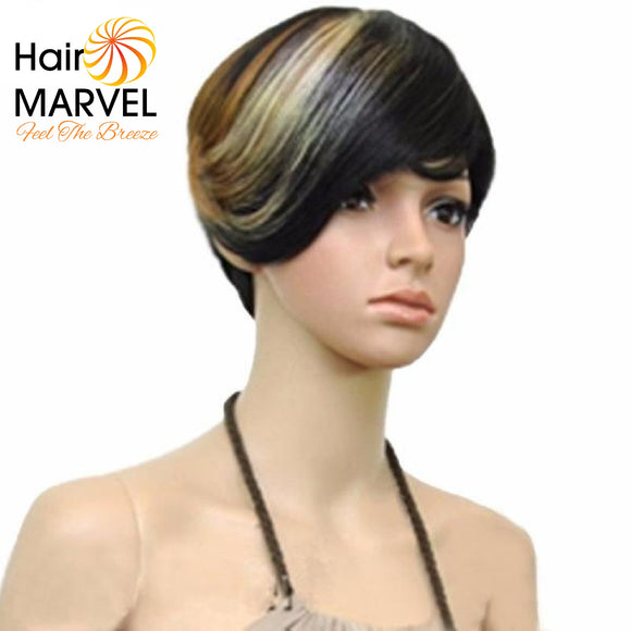 Hair Marvel Alessandra Ombre Three Tone Short Bouffant Wig