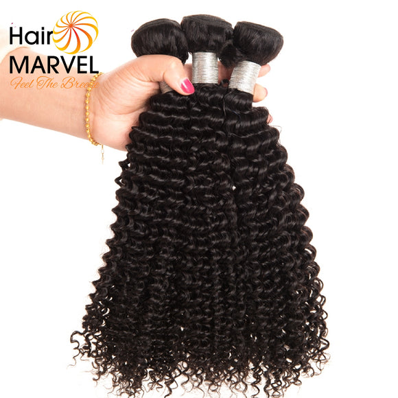 Hair Marvel Malaysian Kinky Curly Weave Natural Black Human Hair Remy Hair Extensions