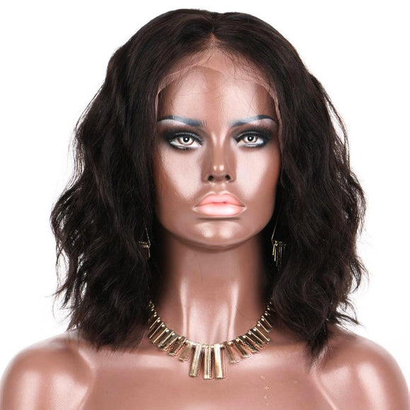 Hair Marvel Naomi Natural Soft Wave Lace Front Bob Brazilian Human Hair 10-14'' Wig
