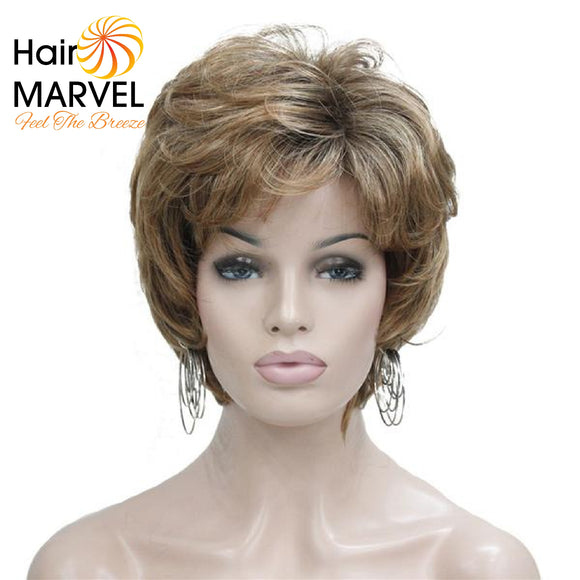 Hair Marvel Lisa Rinna Brown Shag Capless Natural Pixie Cut wig