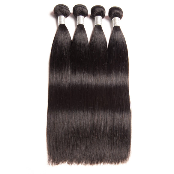 Hair Marvel Peruvian Straight Hair Extension Natural Black Human Hair Bundles Can Be Dyed Remy Hair Weave Bundles 1PC