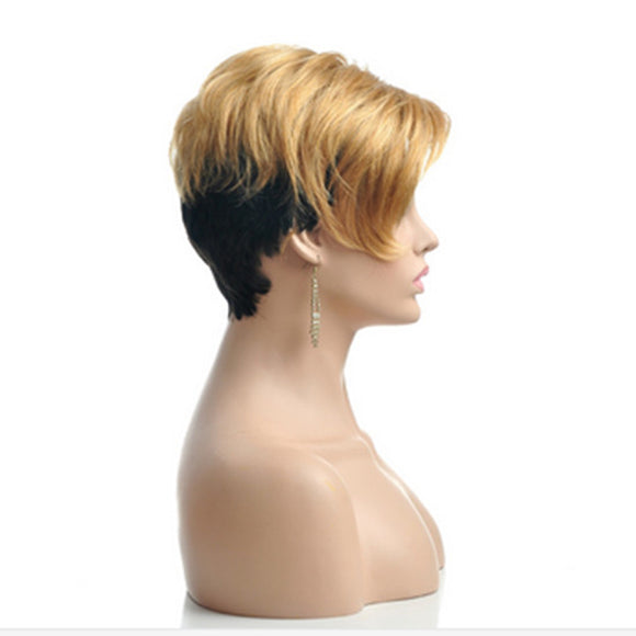 Hair Marvel Synthetic Sleek Soft Pixie Cut Short Straight High Temperature Fibre Hair Wig 2 Colours Available