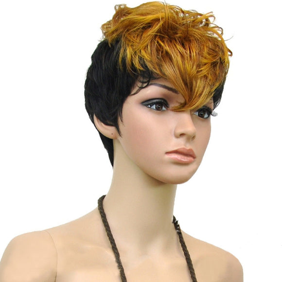 Hair Marvel Rhiana Soft Wave Pixie Cut Two Tone Ombre Wig 2 Colours Available