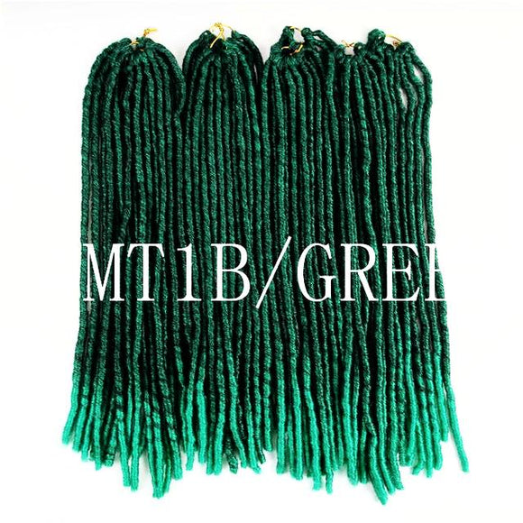 Soft Dreadlocks Crochet Braids Twists Kanekalon Jumbo Dreads  Green