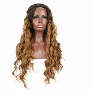 Hair Marvel Leona Soft Natural Curls blonde Two Tone Ombre Dark Roots