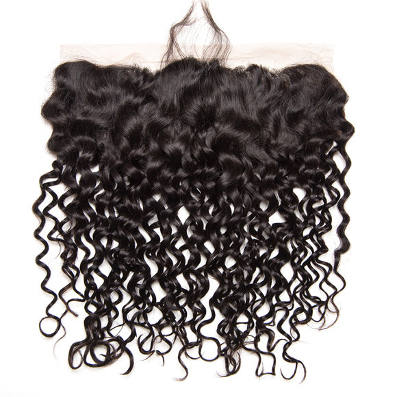 Hair Marvel Isabella Brazilian Water Wave Frontal 13x4 Lace Closure 100% Human Remy Hair
