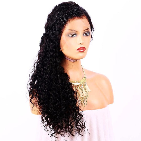 Hair Marvel Aishwarya 360 Frontal Lace Water Wave Brazilian Remy Hair Pre Plucked Wig