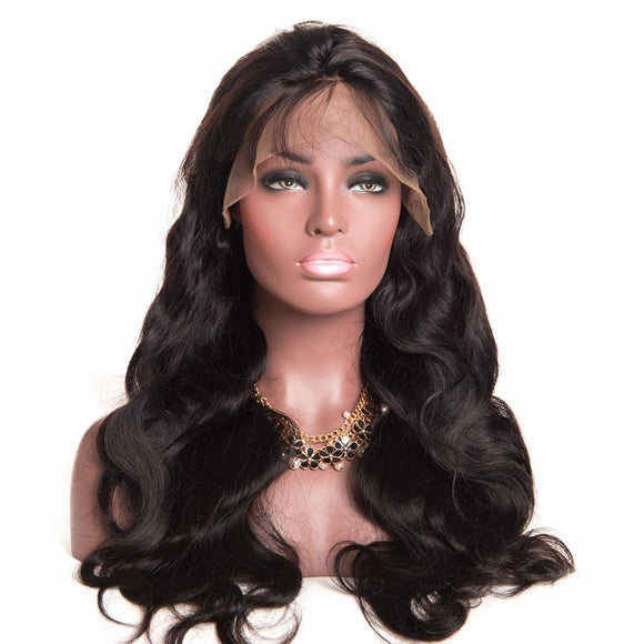 Hair Marvel Kyle Glueless Lace Front 100% Brazilian Human Hair 150% Density Body Wavy Wig