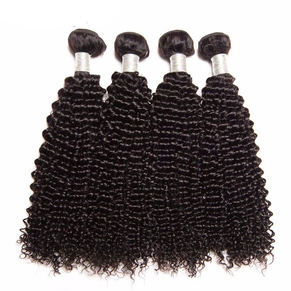 Hair Marvel Peruvian Kinky Curly Weave Human Hair Bundles 100% Remy Hair Extension 10