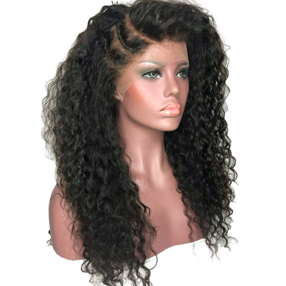 Hair Marvel Natural Kinky Curly Afro Hair Wigs 180% Heavy Density Black Synthetic Lace Front Wig Heat Resistant