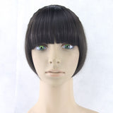 Hair Marvel Synthetic Hair Fringe Black Blonde Hair Bangs with Braided Hair Clip Hairpieces Head Accessories 8 Colours