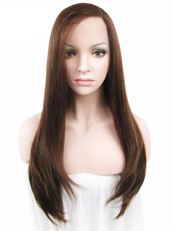 Hair Marvel Zoe Soft Front Lace Straight Premium Synthetic Brown 24'' Wig