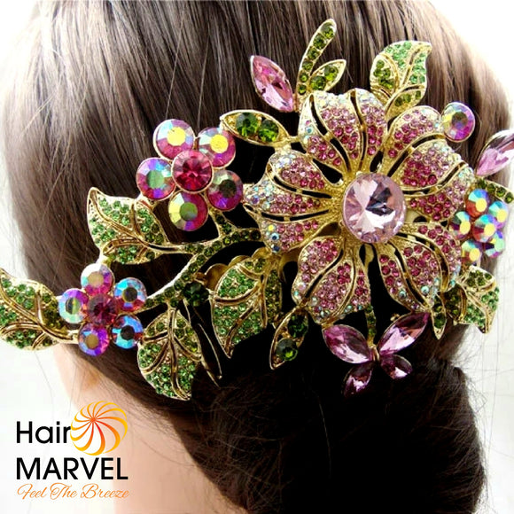 Hair Marvel Rhinestone Crystal Evening, Wedding, Bridesmaid jewelled Hair Comb