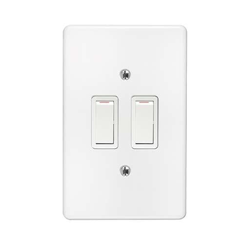 2Lever 1Way Switch + Cover 2x4 Crabtree