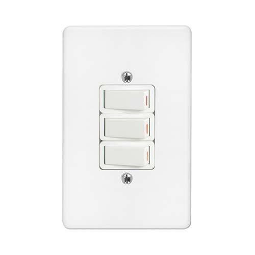 3Lever 1Way Switch + Cover 2x4 Crabtree