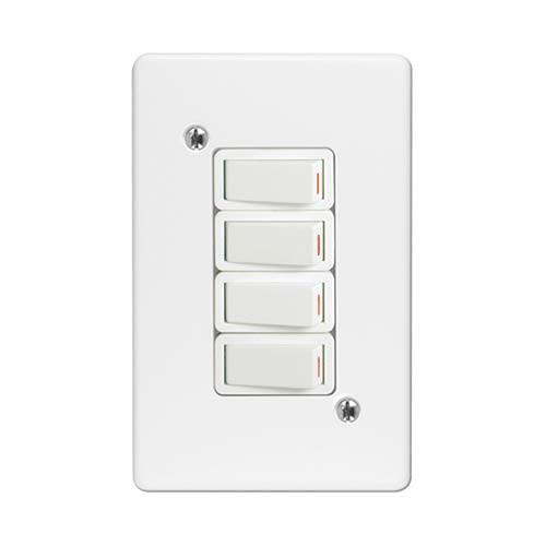 4Lever 1Way Switch + Cover 2x4 Crabtree
