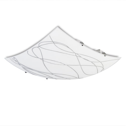 Spazio Swirl Square Ceiling Light