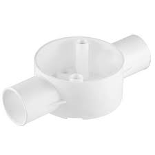 20mm PVC 2Way Conduit Box 9012