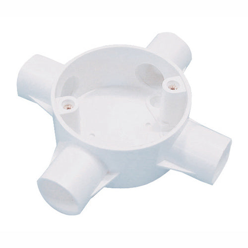 20MM PVC 4Way Conduit Box 9016