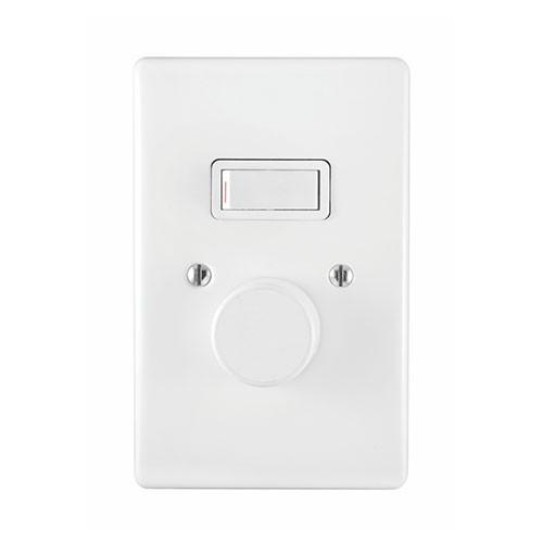 Dimmer switch + 1Lever 1Way Switch C/W Cover 2X4