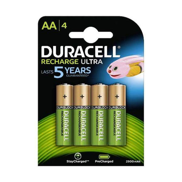Duracell AA 2500Mah Recharge 4pack