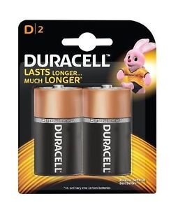 Duracell MN1300 Size D 2pack