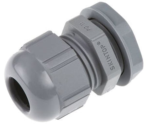 Gland PVC PG7 Grey C/W Locknut