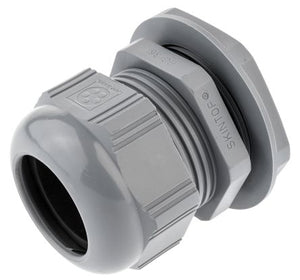 Gland PVC PG21 Grey C/W Locknut