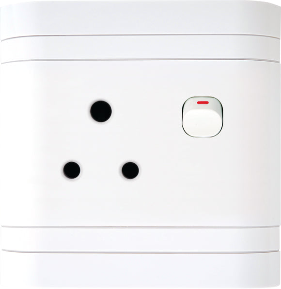 Single Switch Socket 4X4 Lesco