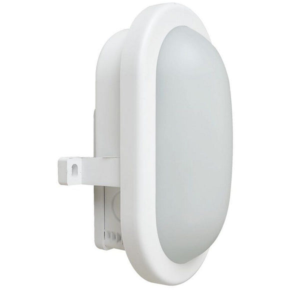 12W LED Bulkhead Oval White
