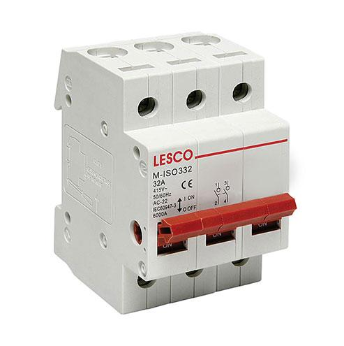 63A 2P Din Isolator Lesco