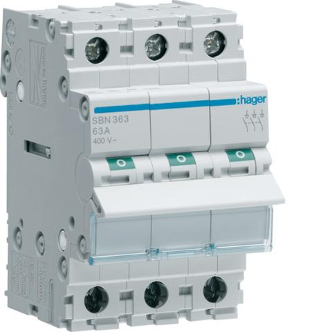 SBN363 3Pole 63A Modular Isolator