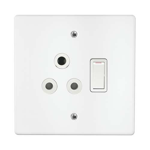 Single Switch Socket + Cover 4X4 Crabtree