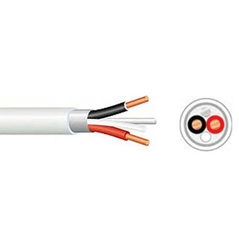 2.5mm x 2Core + Earth Cable White 100mtr, 50mtr, 30mtr, 20mtr, 10mtr Available