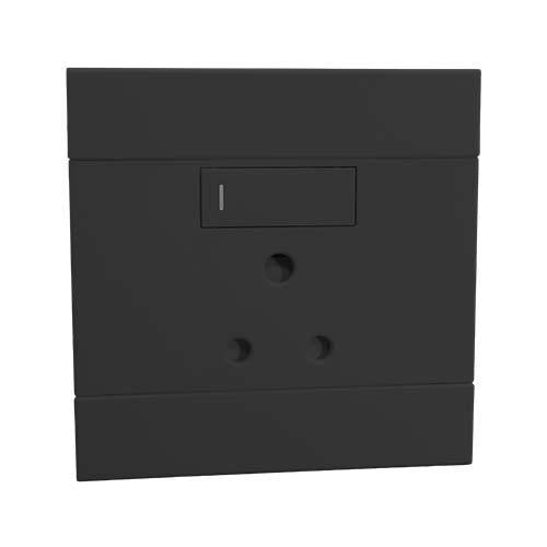 2VC221 1x16A Single Socket Outlet 100x100mm Charcoal Veti2